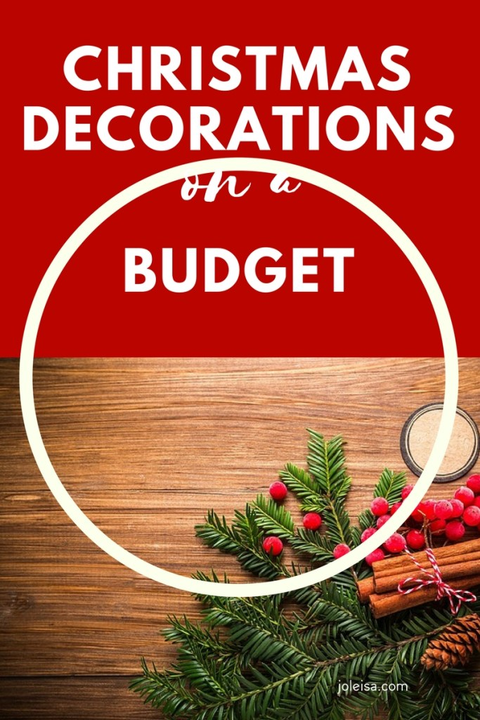 Christmas decorations on a budget. Cheap frugal decorating ideas for you to try at home.