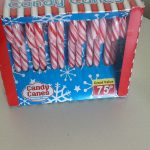 Frugal Christmas decorations for the home. Candy cane Christmas decorations on a budget