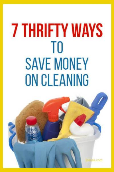 7 Thrifty ways to Save Money on Cleaning