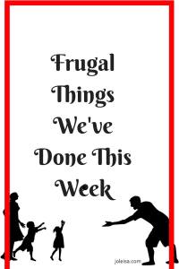 This week's list of frugal things we did is made much more fun because we had our children home for the half term break. Unlike some other families, we kept our frugal hats on and made sure to stay within our budgets, See some of the fun things we did