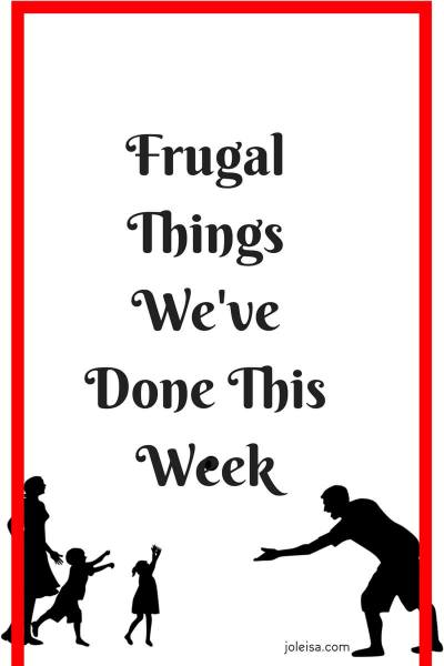 Frugal Things We've Done This Week- Half Term fun With Kids