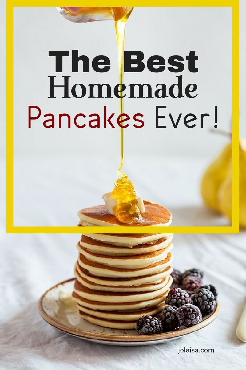 You will find an easy pancake recipe here. I call them the best ever homemade pancakes because they are. Save and share the recipe and it will become a family favourite recipe.