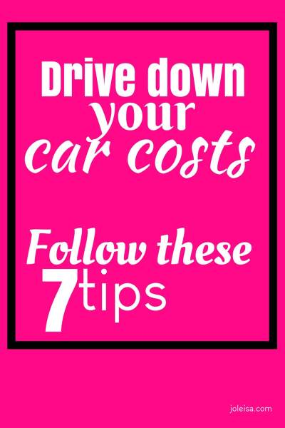 Drive Down Your car Costs