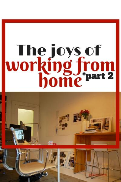 The Joys of Working from Home (Part 2)