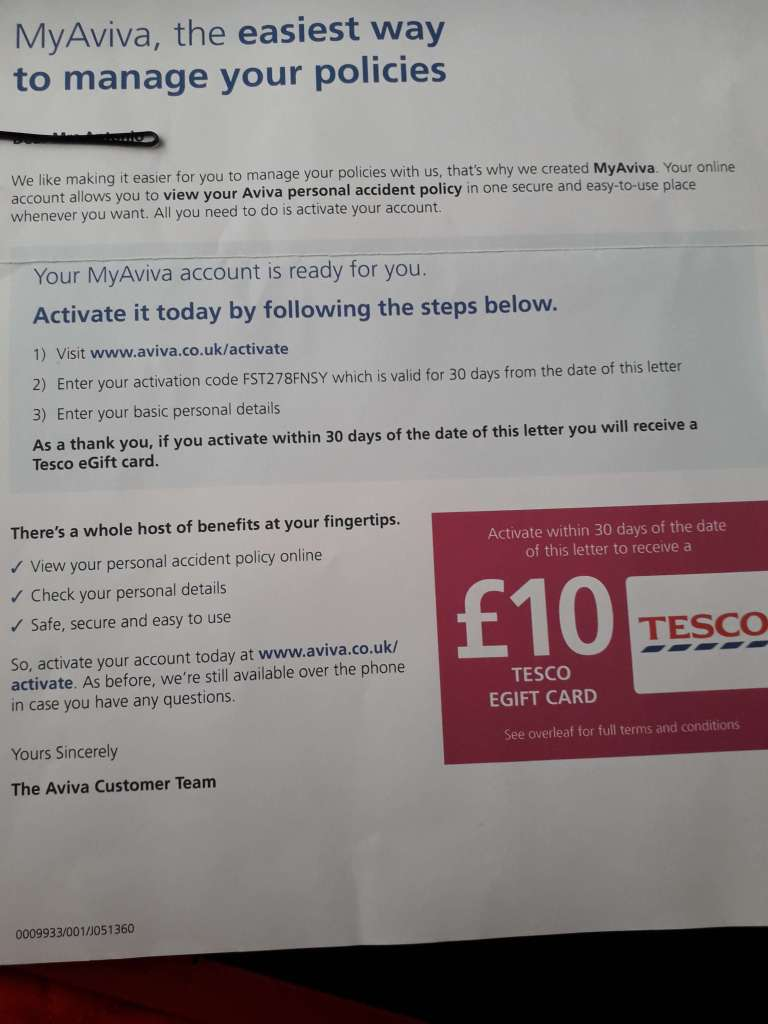Frugal things we've done this week involved Tesco and the insurance company Aviva. Read to learn more