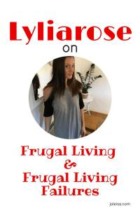 This blog post is rich with useful information on true frugal living. Victoria (Lyliarose) shares her experience of frugal fails and frugal living wins in the hope that it will inspire us to live a frugal lifestyle that works. Click to read or save for later.