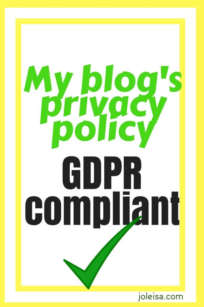 Make sure your blog is GDPR compliant by producing a privacy policy which outlines to your users how you will use their data.