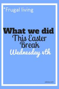 Want to see what we do this school break by way of Easter fun? Today we all went our separate ways with the aim of having fun but at the same time looking out for some frugal buys that wouldn't break the bank.
