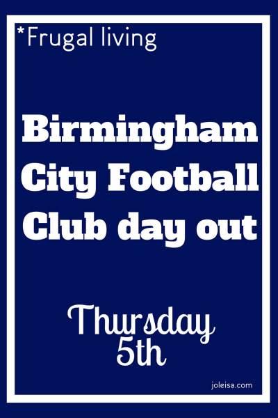 Birmingham City Tour- Thursday 5th