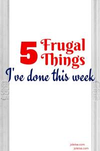 Our list of frugal things we've done continues to grow. See some of the money saving tips and bargain grabbing ideas that are so simple yet so effective. Every little helps and you too can join the frugal living journey and save up for bigger expenses.