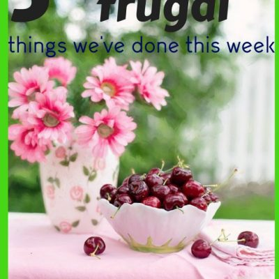 Five Amazingly Frugal Things I've done This Week