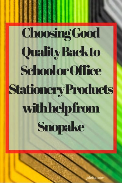 Choosing Good Quality Back to School or Office Stationery Products with help from Snopake