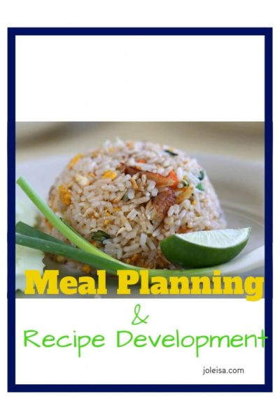 Meal Planning – Recipe Development