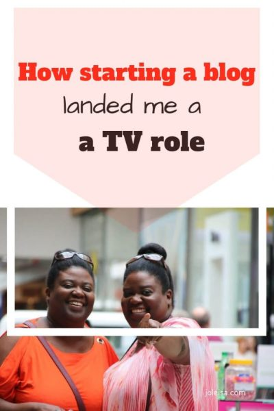 How my Blog Got Me a TV Role!
