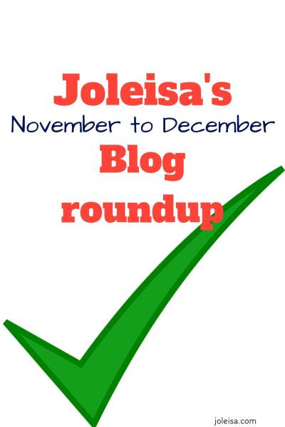 November to December Blog Roundup for Joleisa
