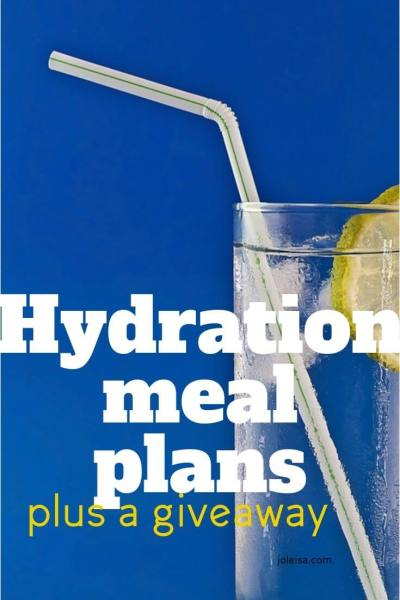 Our Hydration Meal Plans Plus a Giveaway