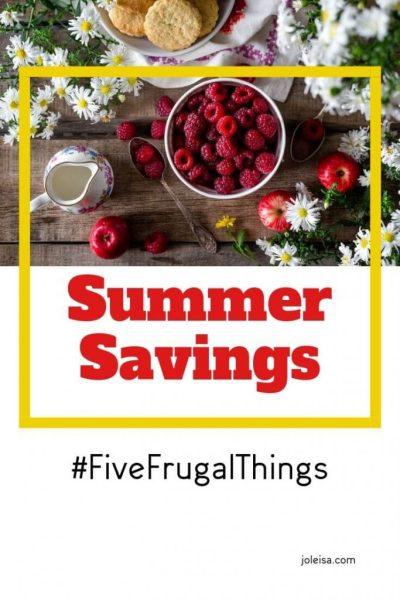 Summer Savings: Five Frugal Things