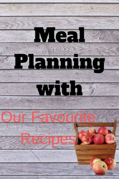 New Meal Plan With Recent Favourite Recipes