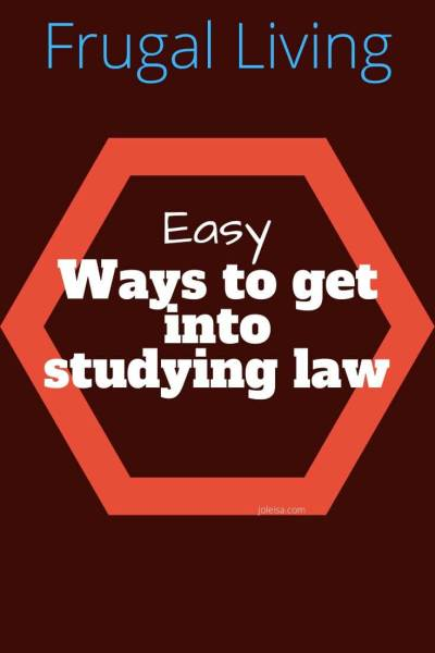 Easier and Cheaper Ways to get Into Studying law