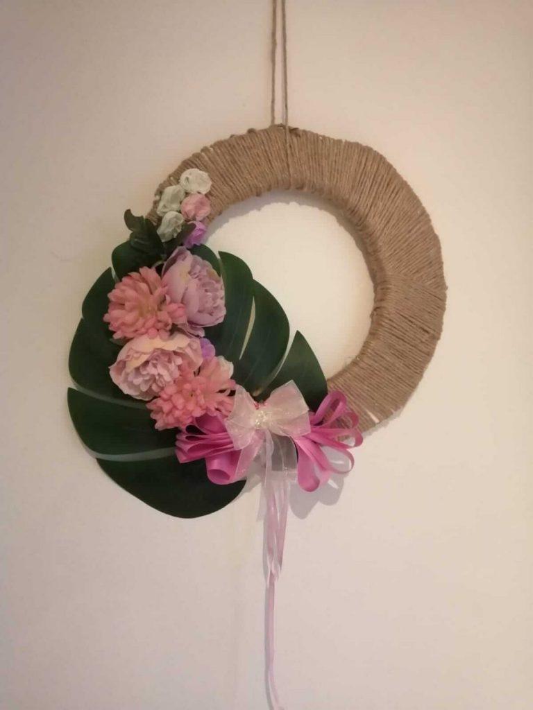 wreath made in lockdown