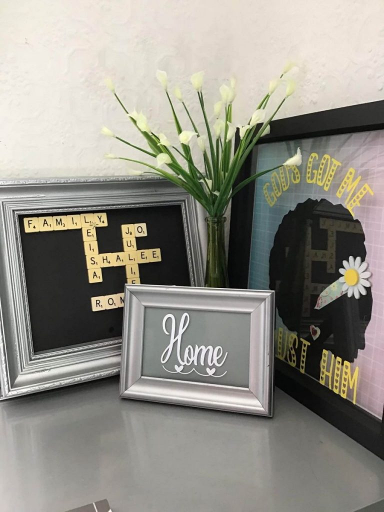 three photo frames for the home.