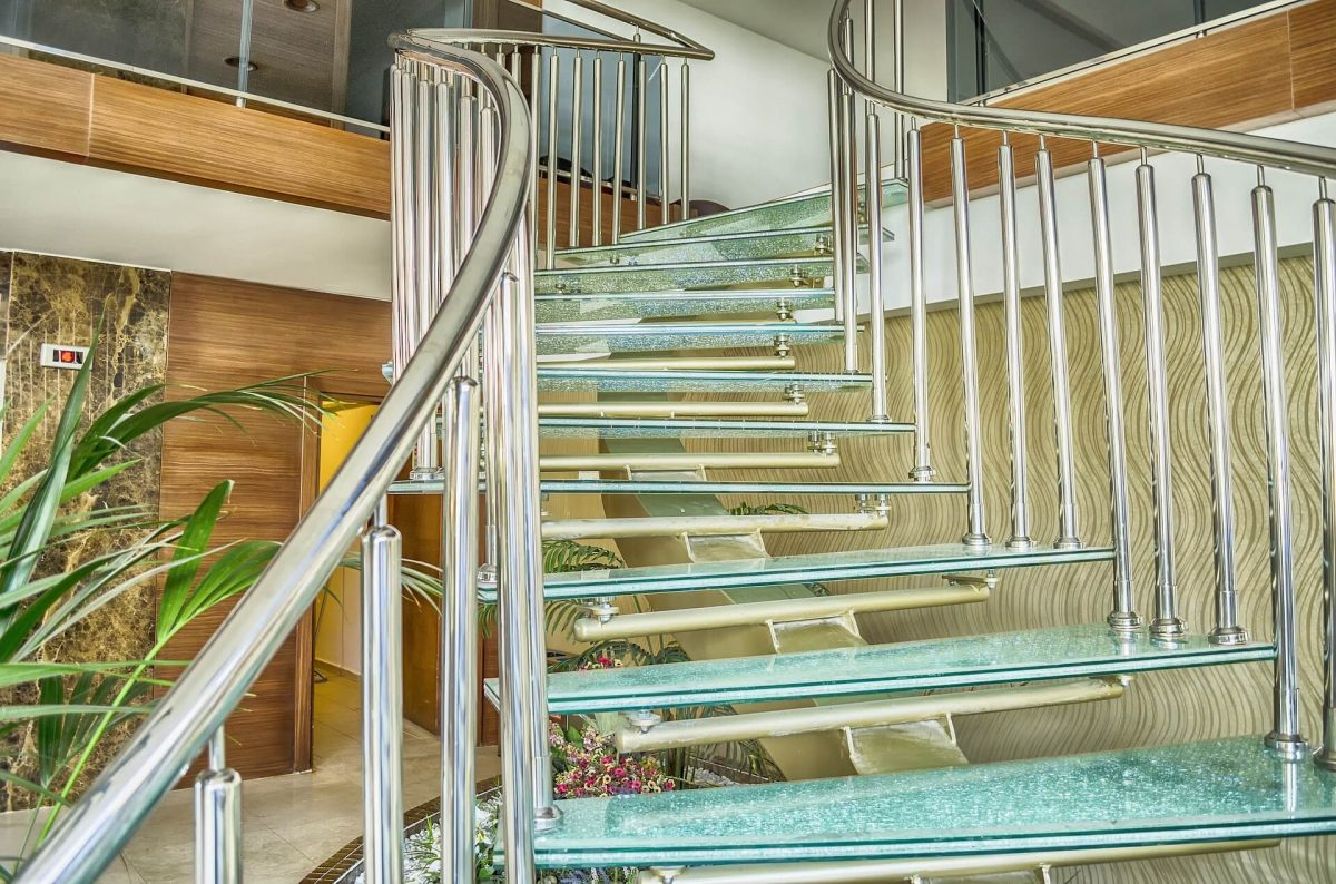 Glass stairs to add to the look and value of your home
