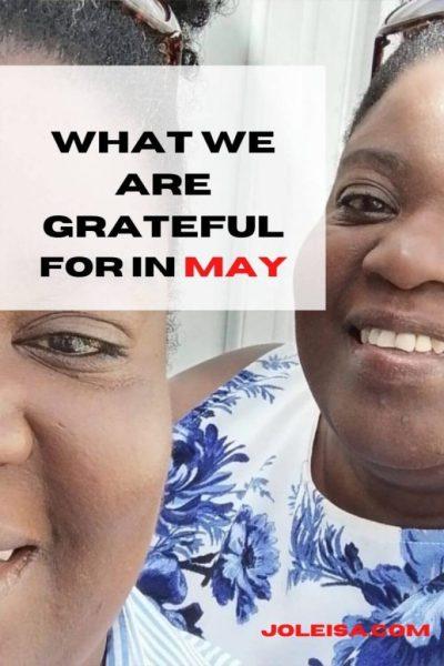 May's Grateful List