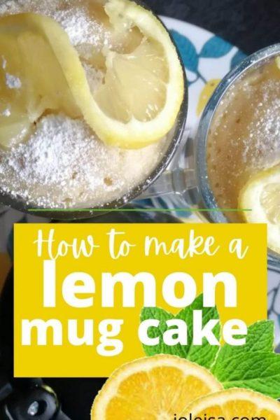 How to Make a Lemon Mug Cake