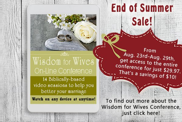 Wisdom for Wives Online Conference