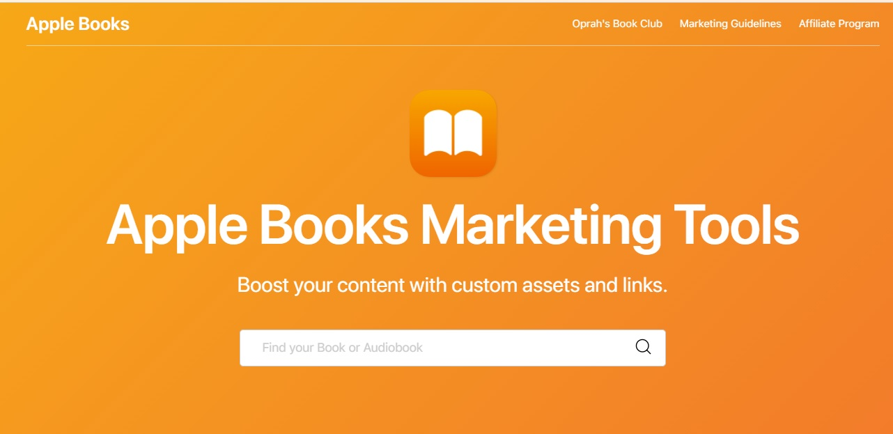 Playing with Apple Books Marketing Tools