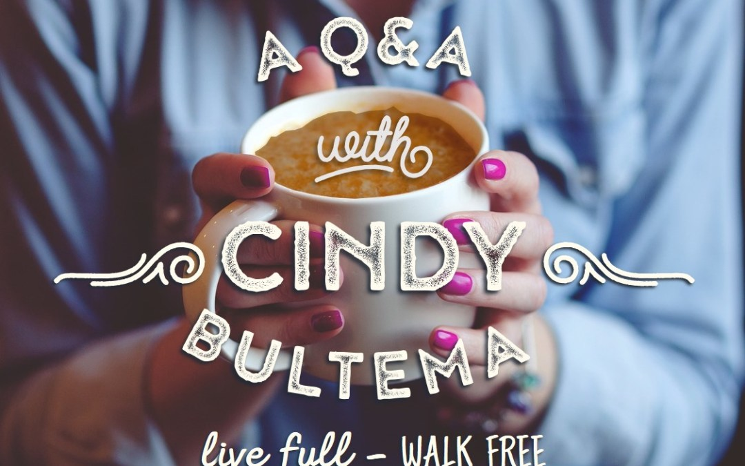 If You're Tired of Living on Empty, It's Time to Live Full and Walk Free {Interview w/ Cindy Bultema}