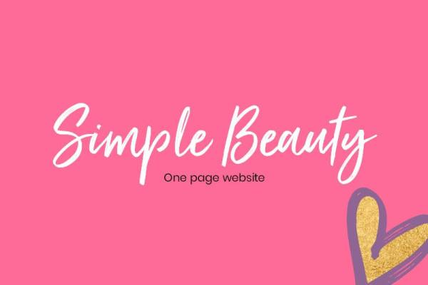 Buy a one page website