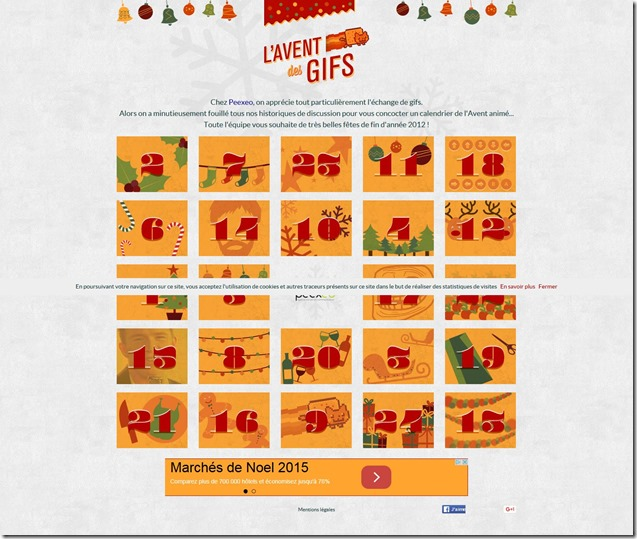 Les calendriers créatifs de 2015