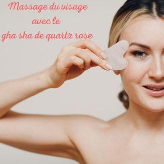le massage avec le gha sha de quartz rose a un effet lissant et reffermissant