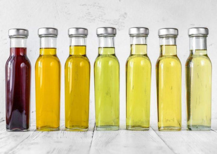 flacons d'huiles vegetales