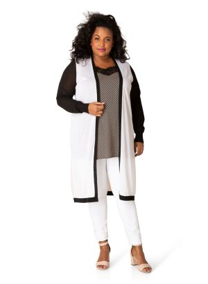 dames kledij fashion grote maten yesta cardigan