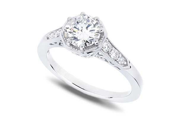 1.0 Ctw Antique Style Octagonal Engagement Ring
