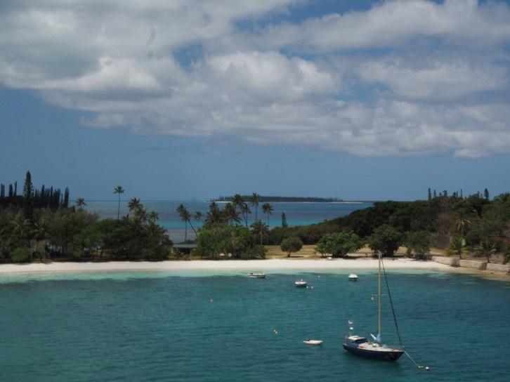 Kuto beach looking across the land to Kanumera bay