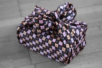 furoshiki carreau noir et blanc