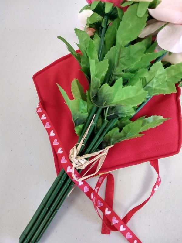 porte bouquet rouge vue intérieure