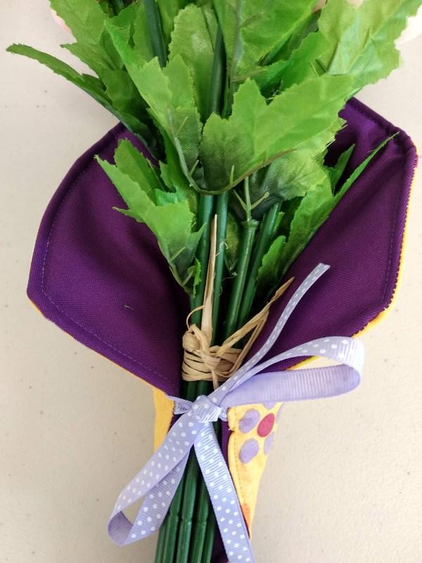 porte bouquet violet vue intérieur