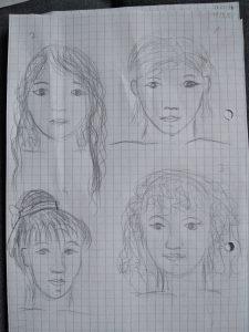 dessin de visages