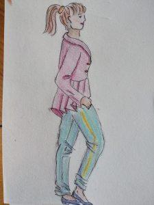 silhouette au crayon