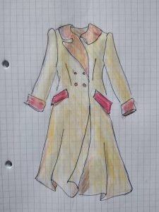 Dessin technique manteau