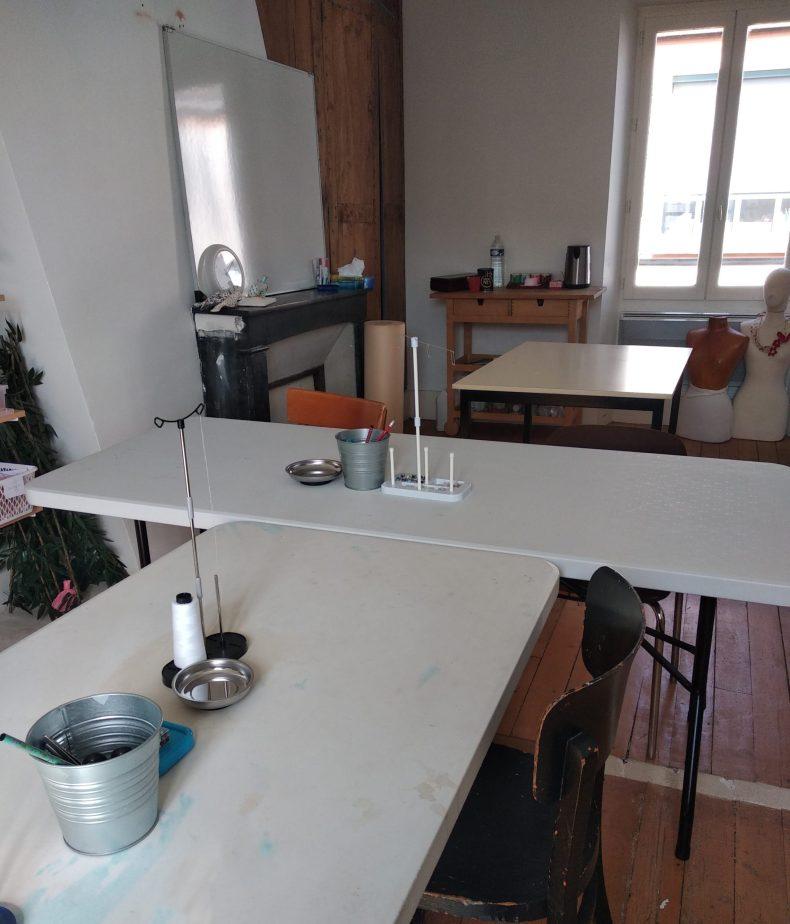 tables de l'atelier