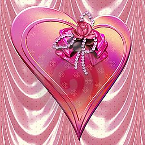 belle image d'un coeur rose avec fleur