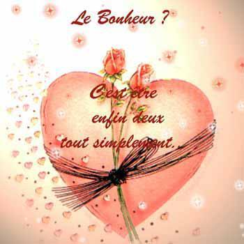 message et Coeur.LE BONHEUR