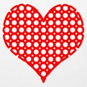 Coeur rouge a trous