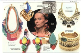 Colourful EL CARMEN clip-ons as featured in Irish IN magazine