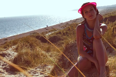 Life's a beach editorial for Seen In The City magazine, featuring Jolita Jewellery's braided Santorini necklace